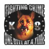 Decal - K-9 Crime Fighter (SILVER) (4 Inch)