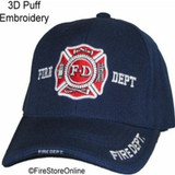 Fire Dept. Hat (3D Puff Embroidery - 4 locations) [NAVY]