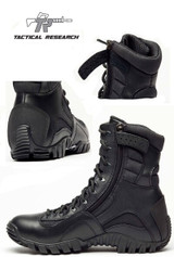 Tactical Research Lightweight Waterproof Black Khyber Boot (Side Zip) View