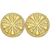 Gold 5-crossed Bugle Collar Insignia Set (15/16-inch)