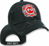Fire Department Logo SHADOW PUFF HAT Back