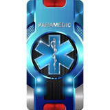 iPhone SubliCOVER Full Color Case (Paramedic Star of Life) (WHITE)