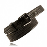 "Boston Leather 1 1/2"" Traditional Uniform Trouser Belt (Basketweave)"