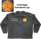Port Authority 1/4 Zip Polar Fleece with F.D. Embroidered Logo (navy blue)