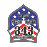 Decal - 343 Remembered (2-inch Helmet Size)