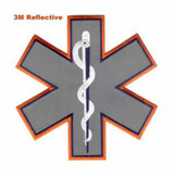 Emblem - STAR OF LIFE (Full Back) REFLECTIVE