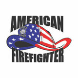 Decal - American Firefighter (4-inch)