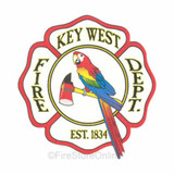 Decal - Key West Fire Department (WINDOW SIZE)