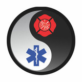 Decal - YIN and YANG - FIRE EMS (4 Inch)
