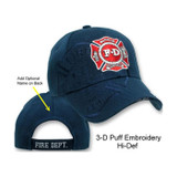 Fire Department Logo SHADOW PUFF HAT (3-D High Definition Embroidery!)