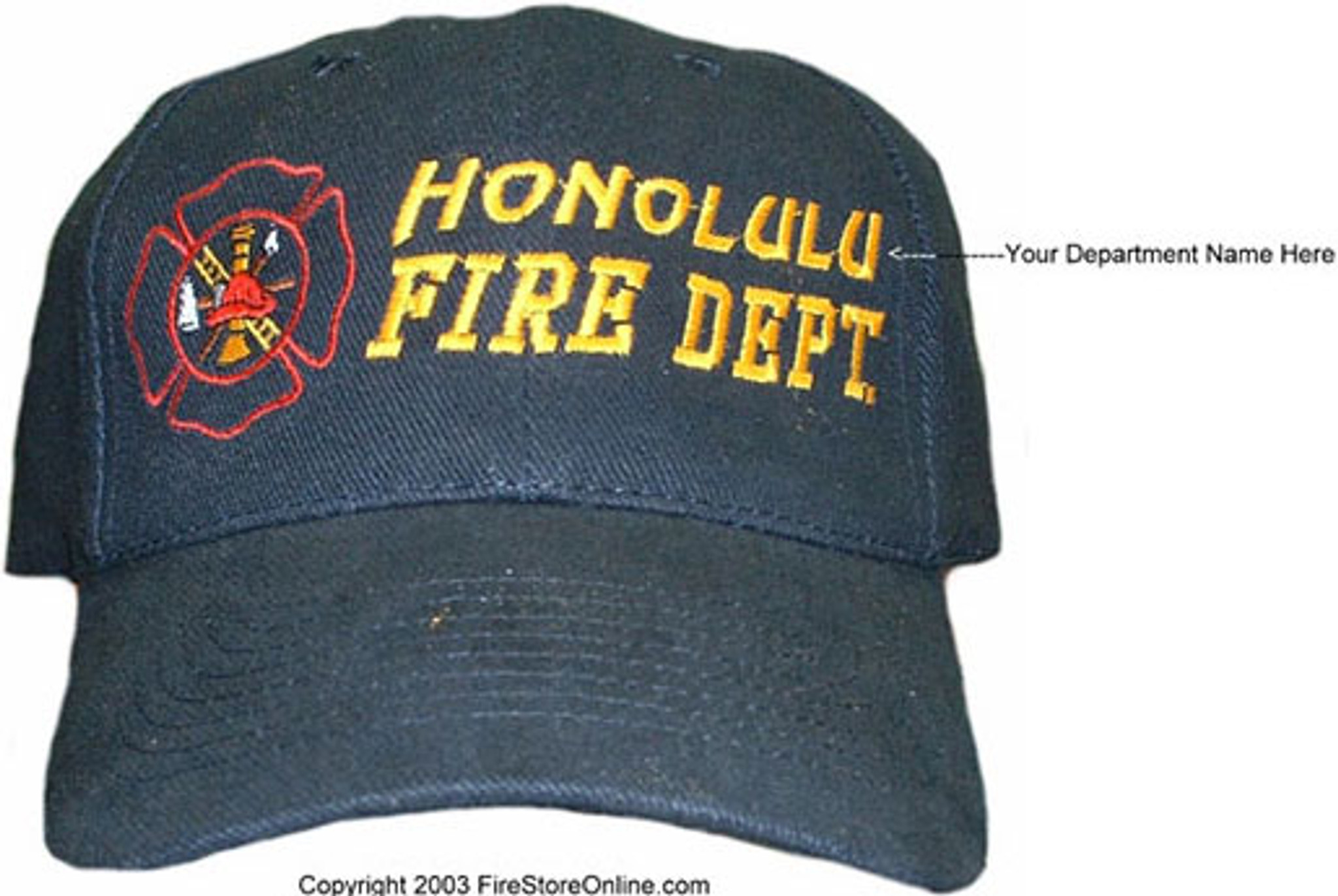73549bd5 Custom Embroidered Hat (fire dept) - Design Your Own Online ...
