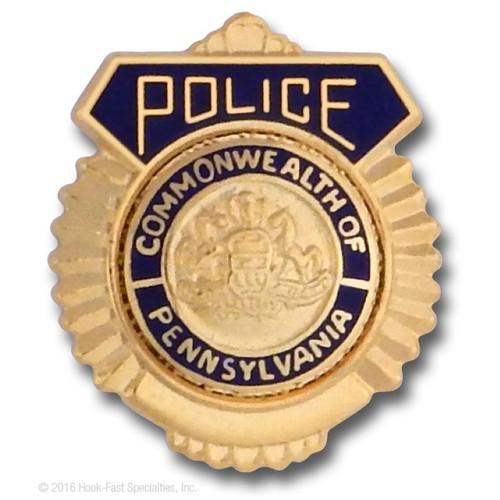 Hookfast Police Shield Emblem QS-2050