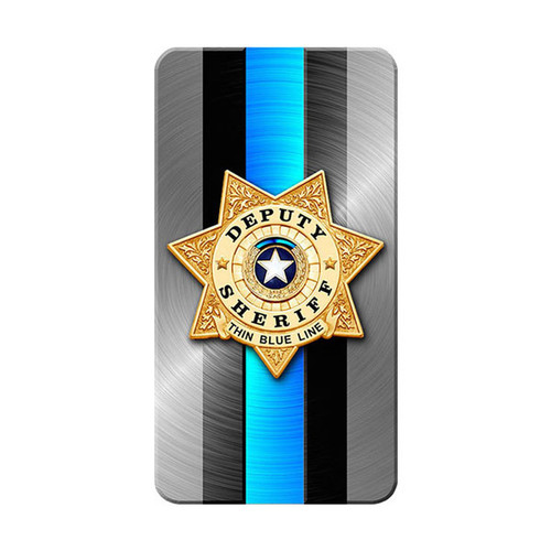 iPhone SubliCOVER Full Color Case (SHERIFF Blue Line Design) (BLACK)