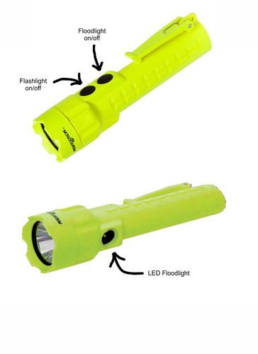 NightStick Pro Intrinsically Safe Permissible Dual-Light™ Flashlight (Hi-Viz GREEN)