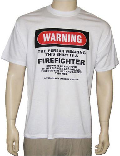 Warning Series FireFighter T-Shirt **CLOSEOUT**