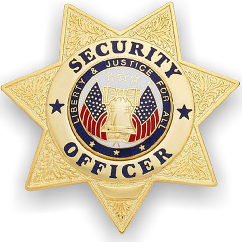 Security Officer 7-Point Star Badge-FireStoreOnline