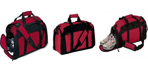 Red Duffel/Gym Bag with Fire Dept Logo and Personalization