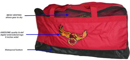 Ultra-Series FIRE EAGLE Gear Bag w/ MESH (Vented Top w/Embroidered Logo) [LARGE] 20% off