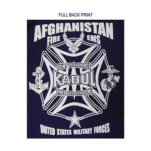 Afghanistan Kabul Fire/EMS Duty T-shirt (USA Task Force)