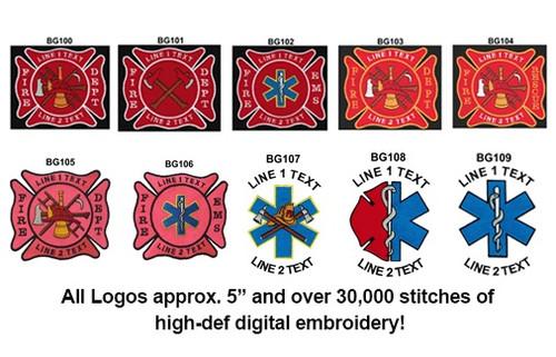 Custom Logo Barrel Duffel Bag w/EMBROIDERED LOGO (BLACK)