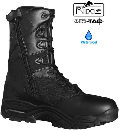 "Ridge Ultimate 8"" Side Zip Duty Boot (Waterproof / Anti-Microbial) - Size 5.5M / 7 Women [50% Off]"