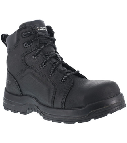 """Rockport More Energy 6"""" Lace to Toe Waterproof Work Boot, Composite Toe"""