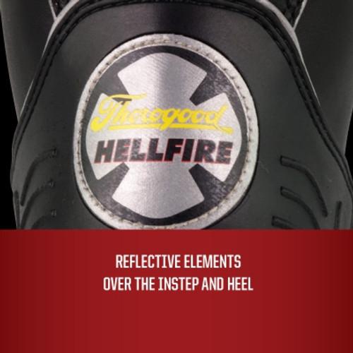 Thorogood Hellfire – Women's 14″ FELT INSULATED RUBBER BUNKER BOOT SIZE 7 REGULAR [30% OFF]