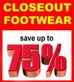 CLOSEOUT FOOTWEAR