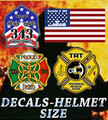 Decals - Helmet Size