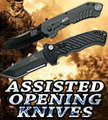 Assisted opening knives