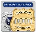 Shield Shaped Badges - NO Eagle Top