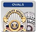 Oval Shaped Badges