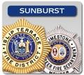 Sunburst Shaped Badges