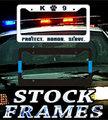 License Plate FRAMES - STOCK