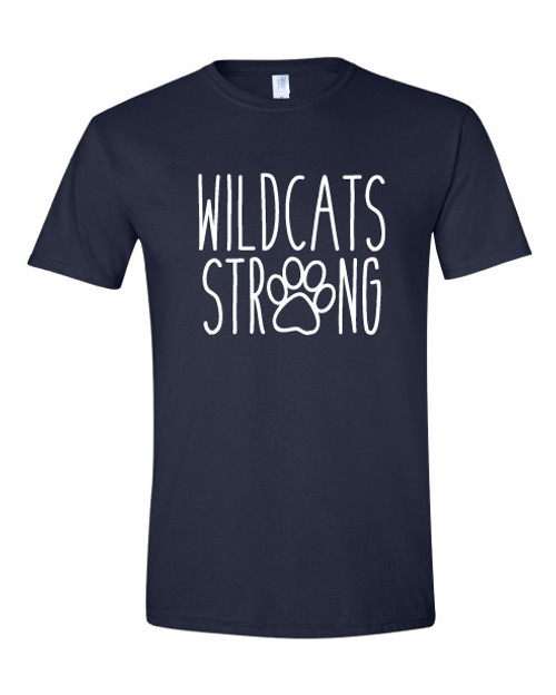 Canyon Pointe Elementary Wildcat Strong Navy T-shirt