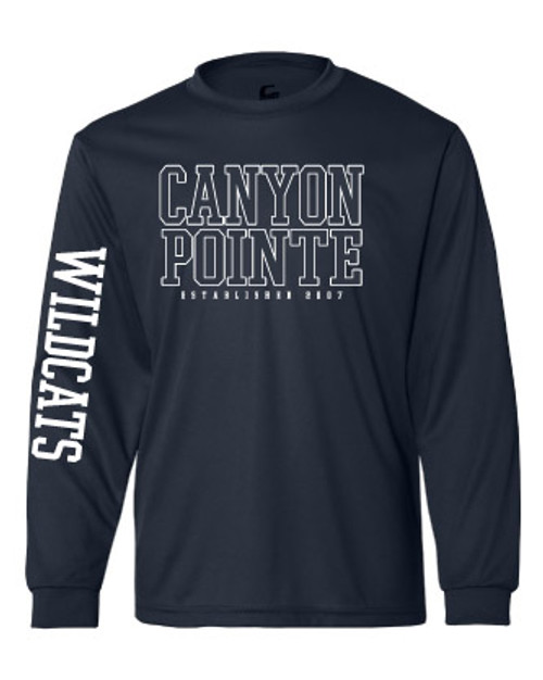 Canyon Pointe Elementary Navy Dri Fit Long Sleeve