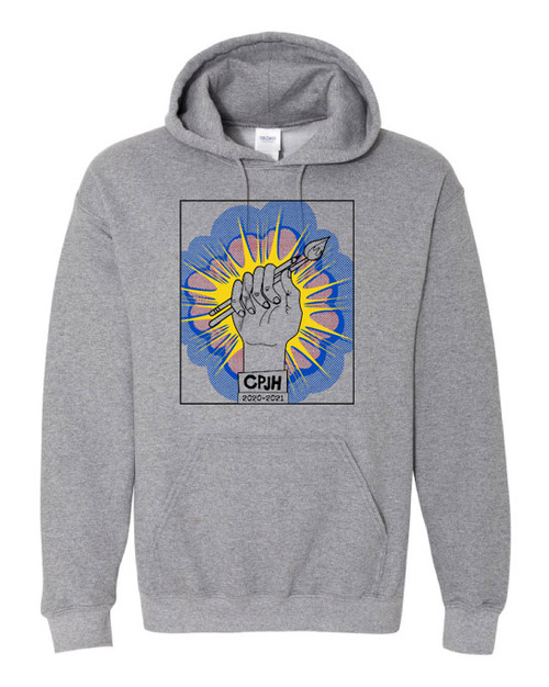 CPJH Art Light Grey Hoodie