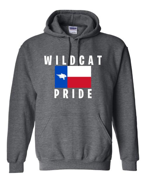 Wildcat Texas Flag Dark Grey Hoodie