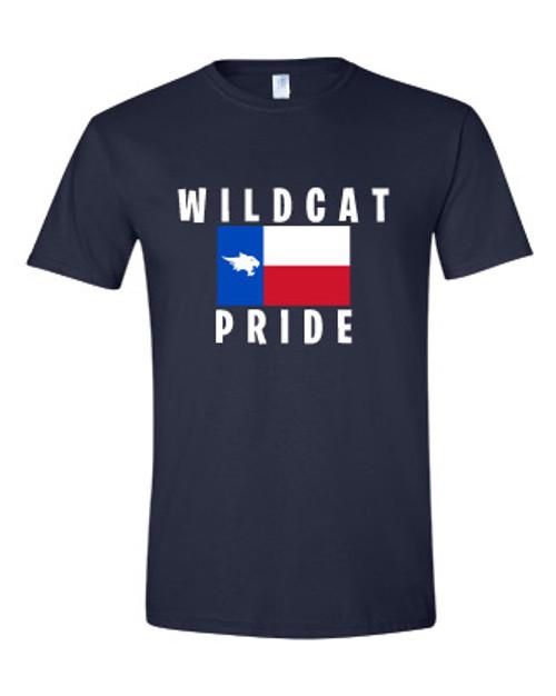 Wildcat Texas State Navy T-shirt