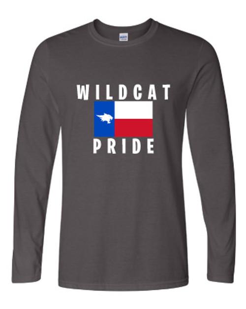 Wildcat Texas State Grey Long Sleeve T-shirt