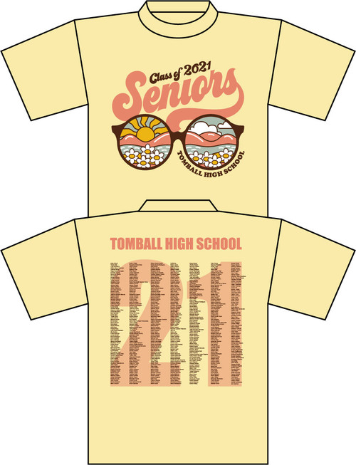 THS Seniors Yellow T-shirt