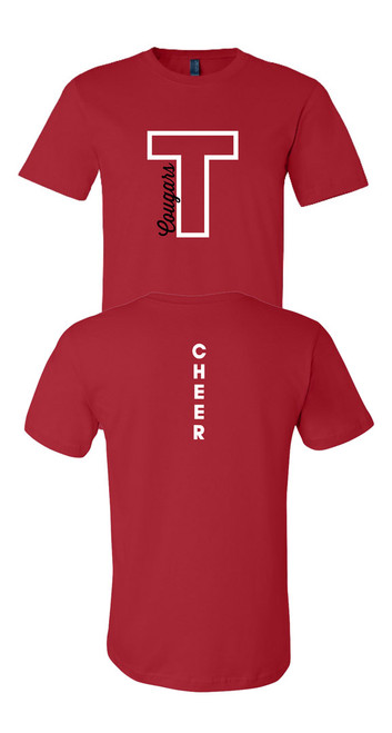THS Cheer T Cougars Red T-shirt