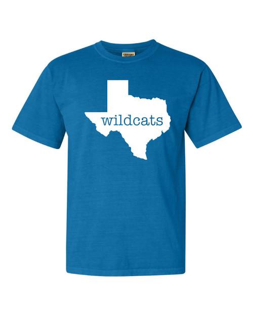 Wildcats Royal Caribbe Comfort Color T-shirt