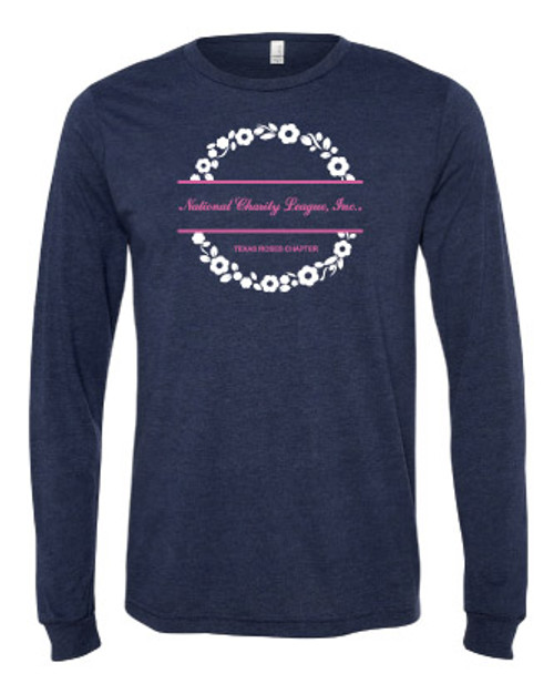 NCL Rose Navy Triblend Long Sleeve