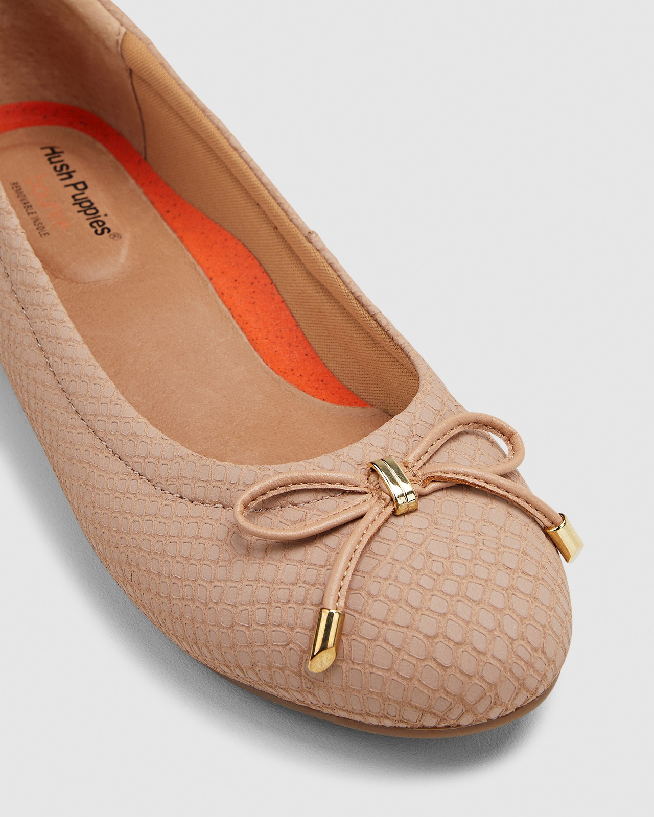 Hush Puppies  THE BALLET Nude Snake