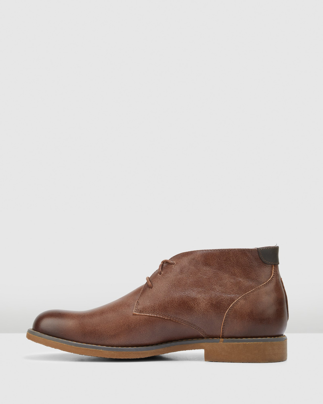 Hush Puppies  Brown Burnish Leather  TERMINAL