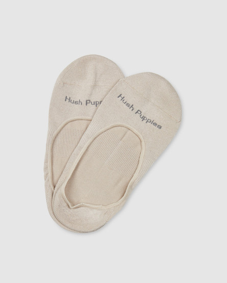 Hush Puppies Bamboo/Cotton Ballet Invisible Nude