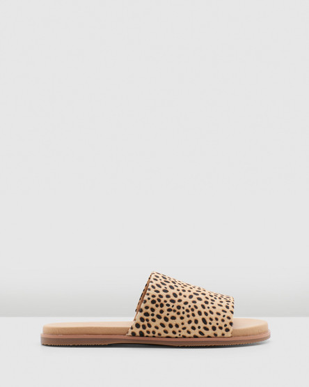 Hush Puppies Paradise Tan Spotted Leopard