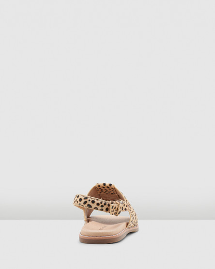 Hush Puppies Paloma Tan Spotted Leopard