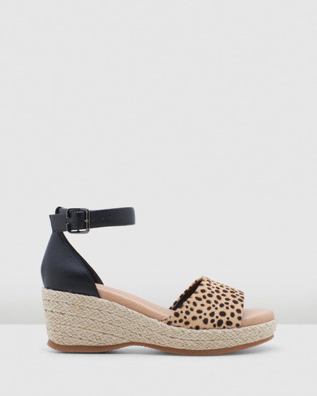Hush Puppies Abella Black/Spotted Leopard